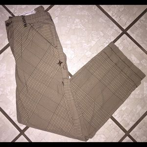 GREAT CONDITION HURLEY PLAID PANTS WITH POCKETS